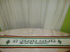 """Werder Bremen Fan Schal 80iger Jahre """"WERDER BREMEN We are the champions"""" TOP"""