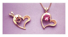 14kt White or Yellow Gold Round Accented Semi-Textured Heart Pendant (4-6mm)