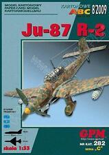 German dive bomber Junkers Ju-87 R-2 1:33 paper card model kit 32cm long