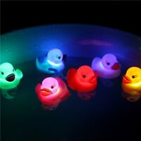 5PCS LED Flashing Light Rubber Floating Duck With Bath Tub Shower Toy For Kids