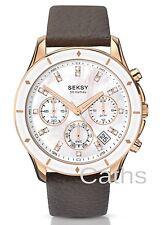 Sekonda Seksy Femme Chrono 365 or rose chronographe montre marron en cuir 2213