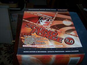 Vintage Sonic Foundry Sound Force 5.0 Professional Digital Audio Editor - Estate