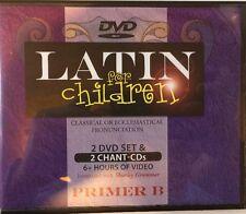 Latin For Children Primer Level B Set 2 DVDs + Chant CDs - Dr Christopher Perrin