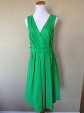 NEW ANTHROPOLOGIE Green Pleated Trellis Dress by Collette Dinnigan, Size 10