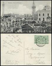 cartolina militare BENGASI festa dei marabuti