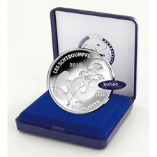 5 euros commémorative BELGIQUE 2018 - Les Schtroumpfs - Version Relief - BE