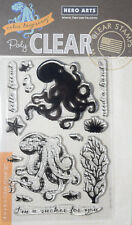 HERO ARTS COLOUR LAYERING OCTOPUS Clear Stamps Cardmaking Craft Scrapbooking