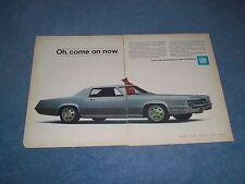 """1967 Cadillac Fleetwood Eldorado Vintage 2pg Ad """"Oh, Come On Now"""""""