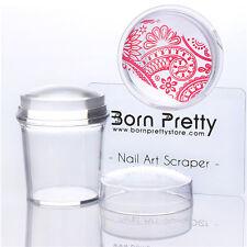 Stamper & Scraper 3.9cm Clear Silicone Manicure Stamping Tool BORN PRETTY