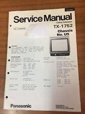 Panasonic TV Service manual TX-1752 chassis U5