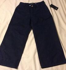 Nwt Nautica Little Boys Flat Front Navy Blue Uniform Pants, Size 4, Msrp $36