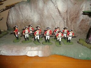 Painted 1/32 plastic AWI British infantry