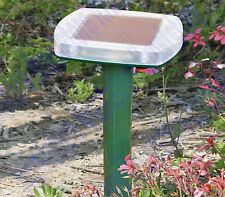 SOLAR POWERED YARD PEST GOPHER RODENT LAWN GARDEN MOLE CHASER REPELLER REMOVAL