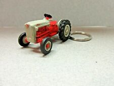 Custom Die Cast Gray & Red Ford Tractor Key Chain 1/64 Scale