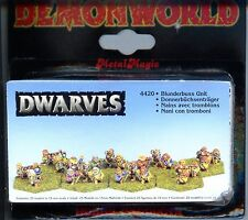 Demonworld Dwarven Dwarf Blunderbuss Unit (25) MINT 15mm Lead minatures