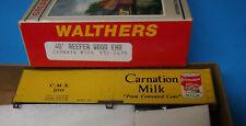 Walthers 932-2479 HO 40' Wood End Reefer Kit Carnation Milk CMX #106