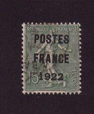 PREO 037 N°37 15 C VERT TYPE SEMEUSE LIGNEE POSTE FRANCE 1922