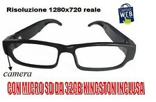GLASSES VISTA SPY HD 1280X720 SPY + MICRO SD 32GB VIDEO CAMERA OCCULT LIGHT A