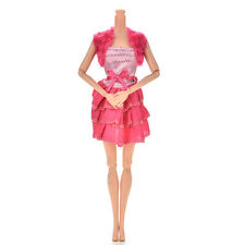 """Special Fashion Waistcoat Rose Dress for 11"""" Barbies Dolls New Beauty MW"""