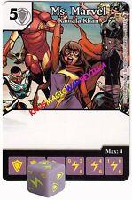 053 MS. MARVEL: Kamala Khan -Common- CIVIL WAR Marvel Dice Masters