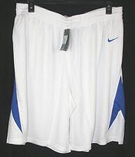 New Nike Womens Dri-Fit White & Blue Basketball Shorts – Size XXL – NWT!