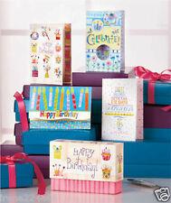"""48 pc 12 Designs Boxed Birthday Greeting Cards Set 5.5""""x 4"""" NIB .65 each"""