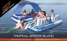 12FT Huge Bestway 6 Person Inflatable Floating Island Lounge Chair Lounger