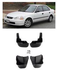 For 96 00 Honda Civic 2DR 4DR Mud Flap Splash Guard Mudguard Black 4 PCS SET