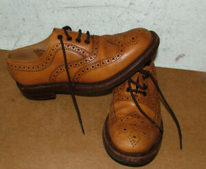 Loake Tan Brogues EDWARD  Goodyear Welted Rubber Sole Shoes 9 UK