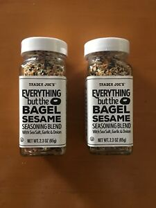 TWO pack/2 count/2x Trader Joe's Everything But the Bagel Sesame Seasoning Blend