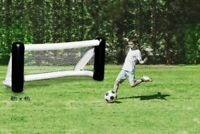 DEBUT Inflatable Football Goal 8x4 ft Portable Home Garden Blow Up Net Training