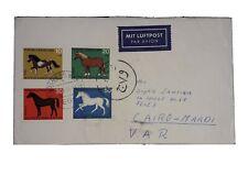 GERMANY TO EGYPT AIRMAIL COVER HORSES PONY