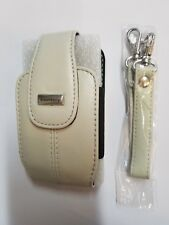 Genuine Blackberry Curve 8300 8310 8320 8330 Leather White Holster Case Tote Bag