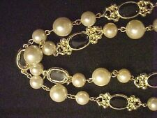 Vintage Necklace-Made with Swarovski Parts Crystal-Bead-Strand GoldP-Clear-Blk