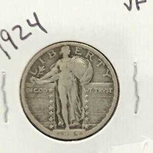 1924 Standing Liberty Silver Quarter  E8862