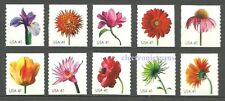 US Beautiful Blooms 4166-75  Set of 10 Coil Stamp Mint Never Hinged 4166 - 4175