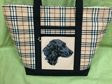 Beautiful Custom Embroidered Munsterlander Tote