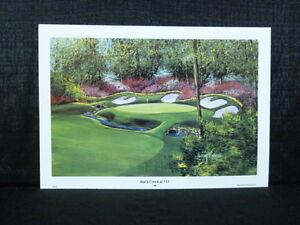 Nancy Raborn Hole 13 Raes Creek Masters Augusta Golf L/E Lithograph