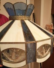 LAMP STAIN GLASS TIFFANY STYLE ( blue/beige glass)