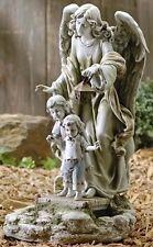 """20.5"""" Solar Guardian Angel Children Outdoor Garden Statue Joseph's Studio #47446"""