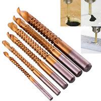 6x HSS Ti Step Drill Bit Woodworking Wood Metal Cutting Hole Saw Tool HOT