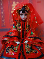 1/6 Scale Handmade Qing Dynasty Queen Chinese Doll Kurhn Traditional Outfits Toy