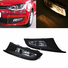 Pair Fog Lights Bumper Grille M2W937 For VW Polo MK5 Hatchback 2009-2013