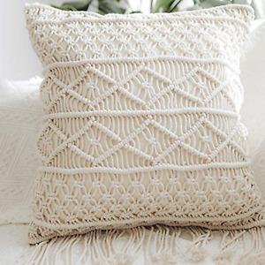 Beautiful Macrame Cushion Cover Wedding Decor Throw Pillow Cover GIFT