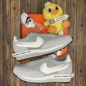 Nike Sacai LD Waffle Fragment Grey White - Mens Size 8.5