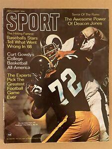 1969 Sport Magazine LOS ANGELES RAMS vs PITTSBURGH Steelers DEACON JONES N/Label