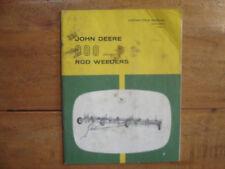 John Deere 800 Series Rod Weeders Operator's Manual