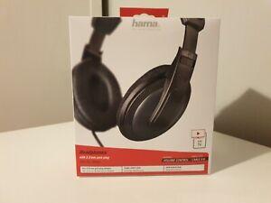 Hama TV Hi-Fi Headphones Over Ear Long 6M Cable & Volume Control
