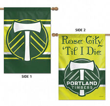 "Portland Timbers Double Sided MLS House Flag Licensed Soccer 28"" X 40"""
