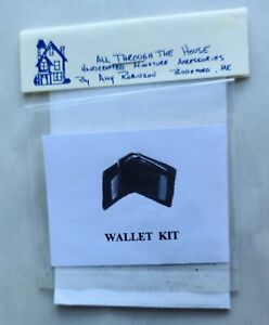 """HANDSOME """"ALL THROUGH THE HOUSE""""  DOLLHOUSE MINIATURE WALLET KIT, NEW!"""